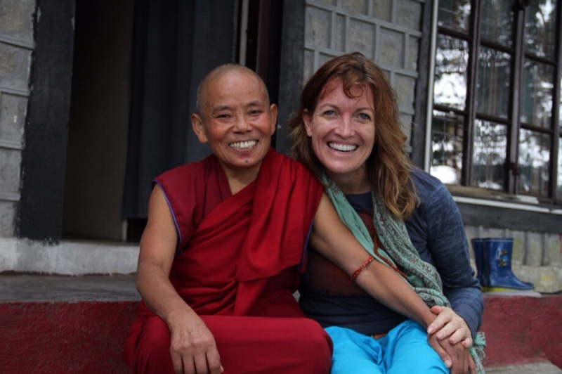 Tenzin's radiant smile mirrors her delight with life.