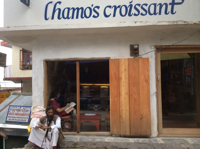 Lhamo's Croissant is a frequent indulgence - thank heavens we're doing 4 hours of asana a day!