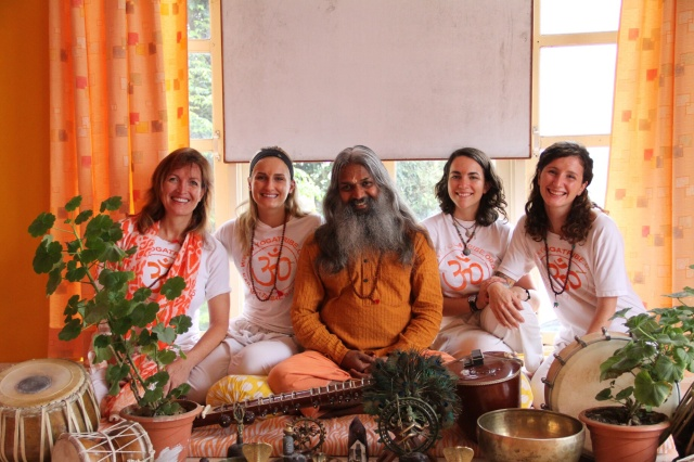 Graduation with Yogi Sivadas and my fellow yoginis