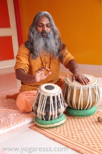 Yogi Sivadas on the tabla drums