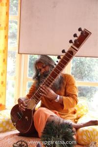 Yogi Sivadas playing sitar